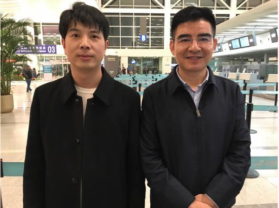 贵伊族董事长苏士正与中国慈善家陈光标
