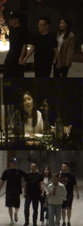 黄景瑜酒店与友人聚餐