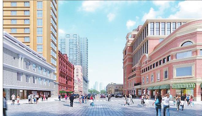 街区改造后效果图。