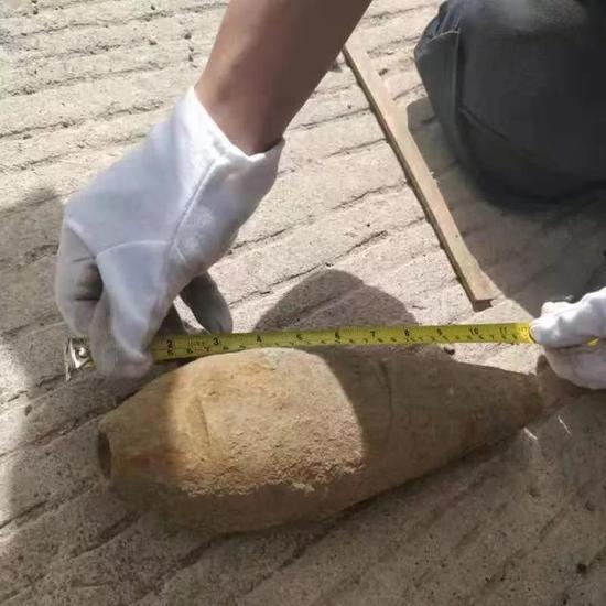 哈市一小区施工时发现日伪时期炮弹 仔细一查竟是化学弹