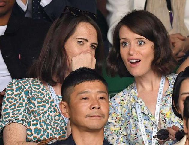 刚力彩芽与男友前泽友作看英国网球公开赛被拍