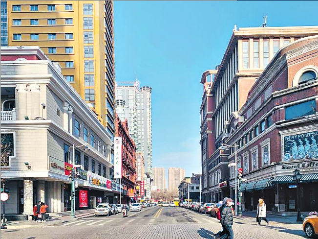 街区改造前实景图。