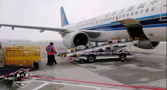 4架航班降落哈机场 6000公斤口罩等防疫物资运抵龙江