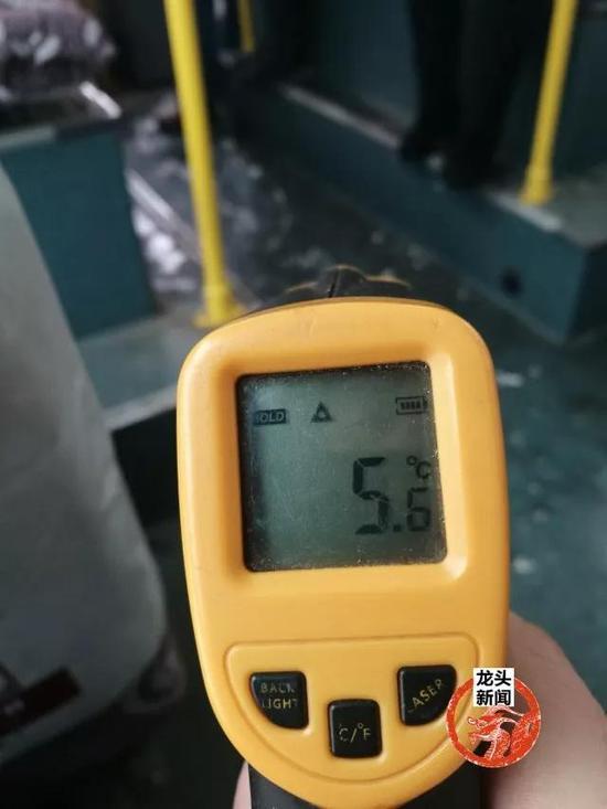 图为:车厢温度