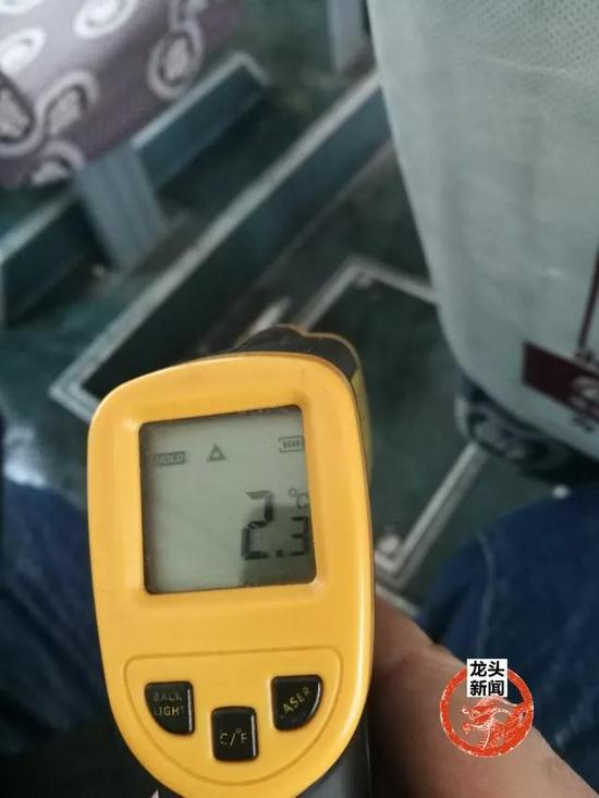 图为车厢温度