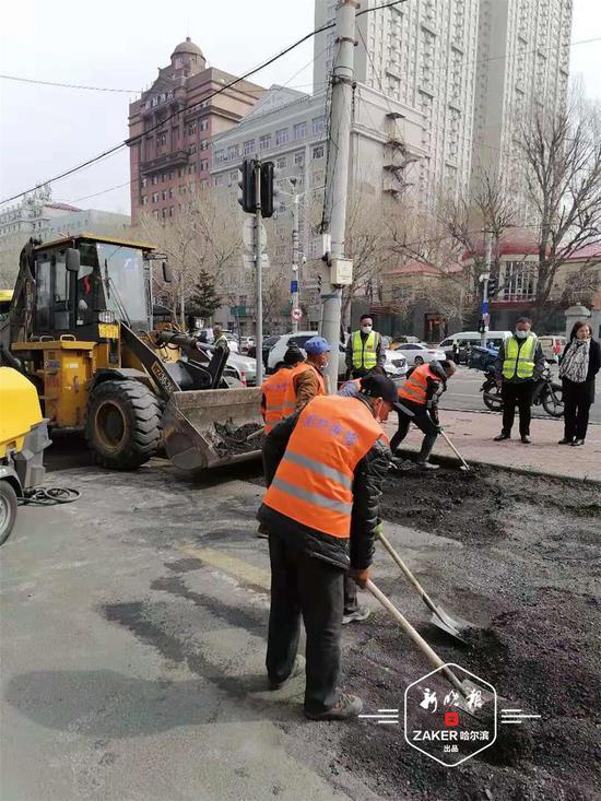 1.3万平方米翻浆路修好了!哈市城区道路春整预计6月初完成
