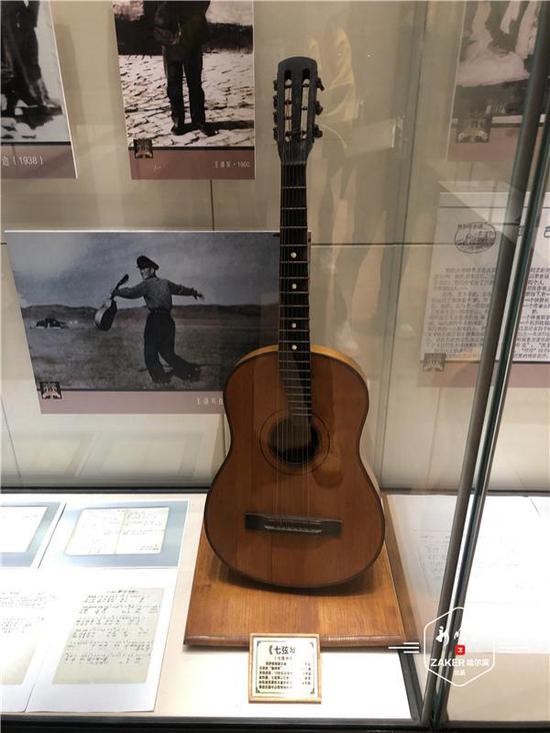 ▲王洛宾使用过的乐器