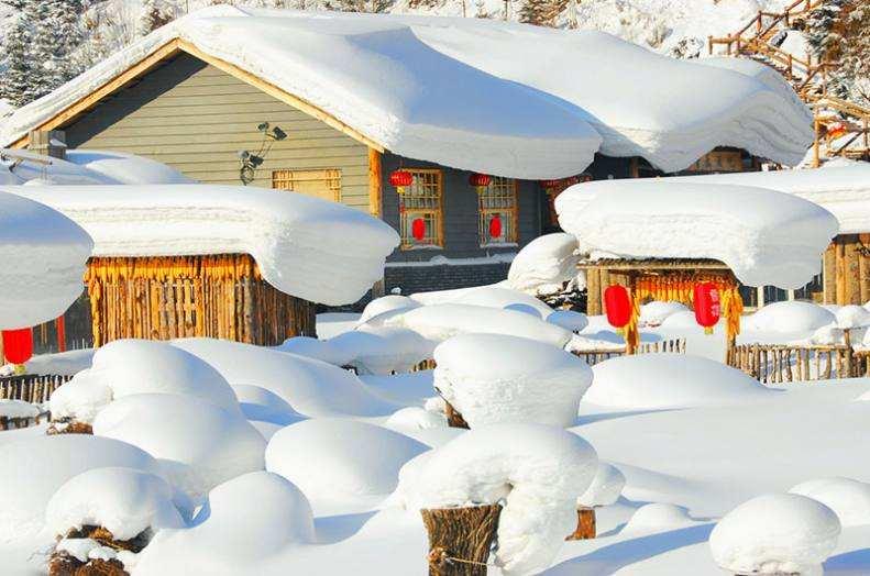 雪中抢开园 黑龙江省内冬季旅游景区陆续开门迎客
