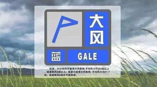 大风蓝色预警:哈市27日早晨至28日白天全天阵风将达8级