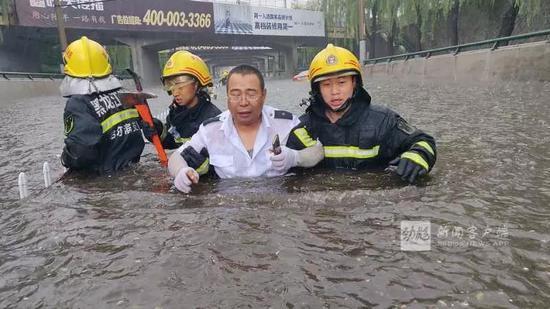 通乡街桥下救援