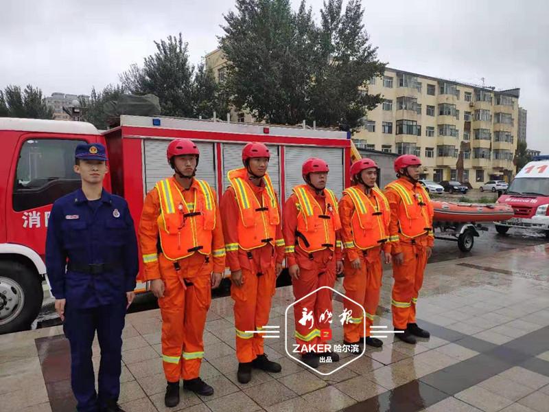 哈市消防部门成立抗洪救援突击队 配备8艘舟