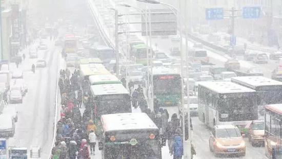 说不定突然间哈尔滨也会变成这幅景象,出门一定注意安全。