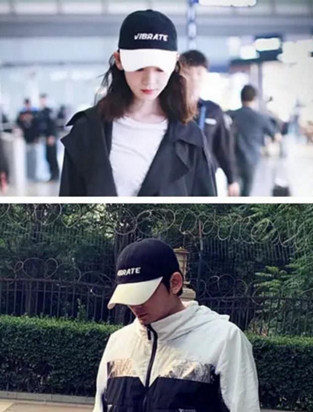 两人被扒曾戴同款帽子