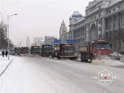 哈市清冰雪大军转向次干路及背街背巷