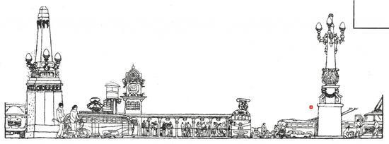连环画中大量植入哈尔滨元素,这是 1983 年的哈尔滨火车站。