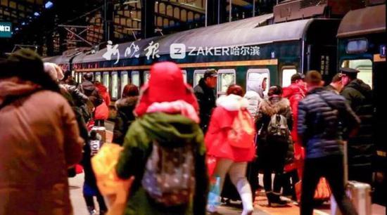 其中,哈尔滨西站、大庆车务段、绥化车务段、哈尔滨东站客流增加明显。