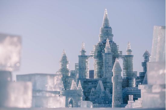 哈尔滨冰雪大世界点亮国际冰雪节