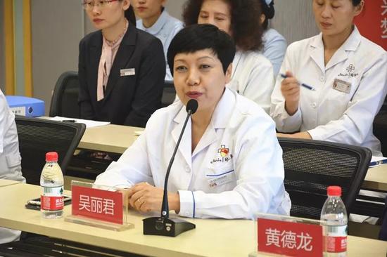 吴丽君院长代表黑龙江玛丽亚妇产医院欢迎各位领导莅临