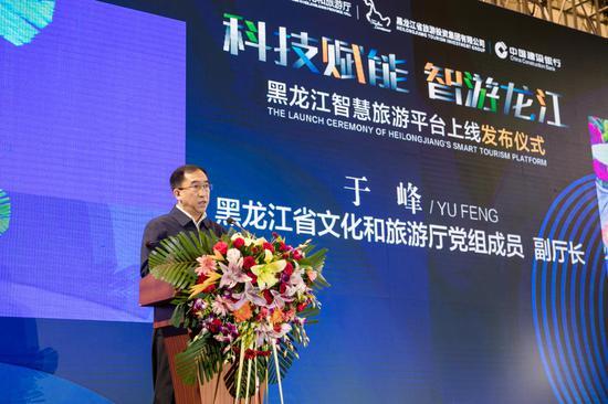 黑龙江省文化和旅游厅党组成员、副厅长于峰对各市(地)及旅游企业就智慧旅游平台建设工作进行安排部署