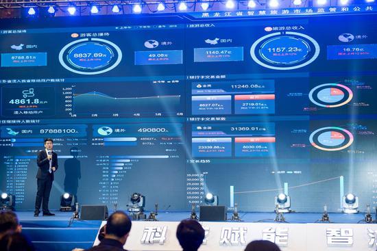 12301国家智慧旅游平台技术团队项目经理朱定飞展示黑龙江省智慧旅游市场监管和服务平台
