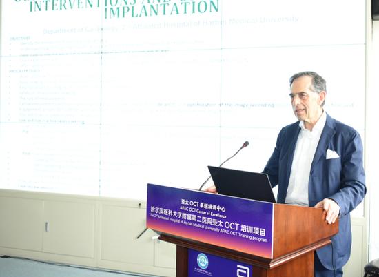 欧洲OCT共识主席意大利Giulio Guagliumi教授在会上对欧洲OCT共识进行详细解读