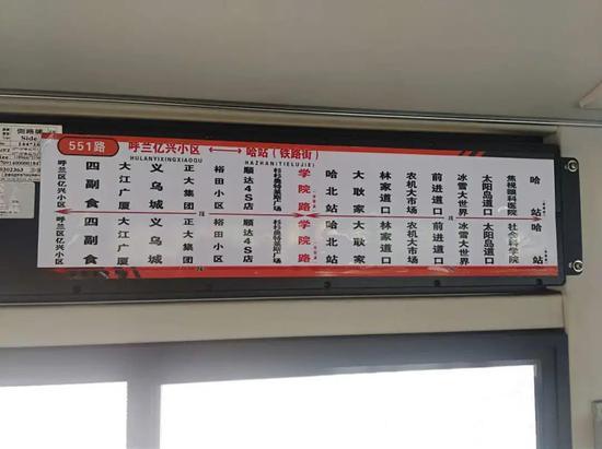 公交线路导向图
