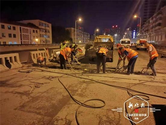公滨路高架桥局部夜间维修预计近日完工
