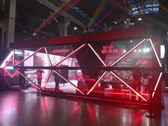 钻石造型的展示区