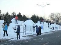 国际大学生雪雕赛开铲 市民可在3A景区免费看雪雕