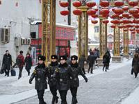 """哈尔滨""""警花""""零下30摄氏度执勤"""