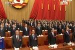 杜青林宣布政协会议开幕 全场起立唱国歌