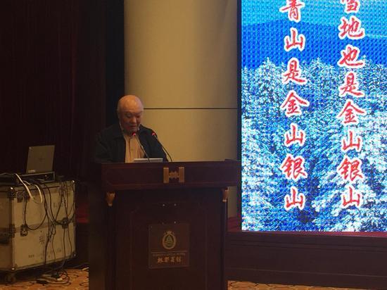 中国工程院院士、中国野生动物保护协会养殖委员会主任马建章教授致辞