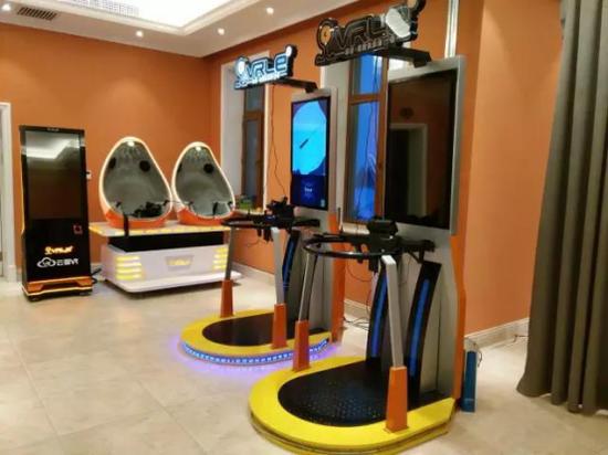 呼兰河口欢乐冰雪世界酷炫的VR体验区
