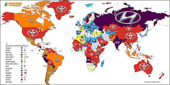 2016全球汽车品牌热搜榜