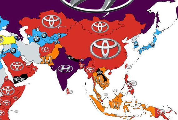 2016全球汽车品牌热搜榜(亚洲)