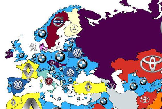 2016全球汽车品牌热搜榜(欧洲)