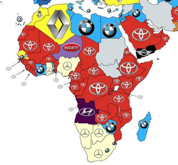 2016全球汽车品牌热搜榜(非洲)