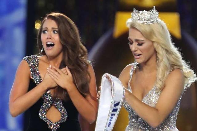 2018年美国小姐出炉 现场大秀表情包