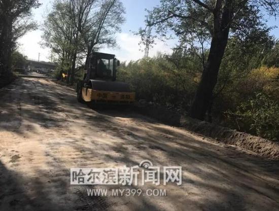 江北中环路大修工程——道路路基碾压施工
