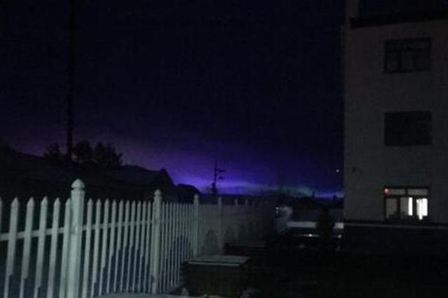 漠河北极村16日现疑似北极光 出现数秒后即刻消失