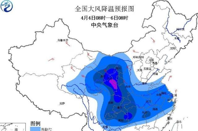全国大部有大风降温暴雪沙尘暴蓝色预警同时发布