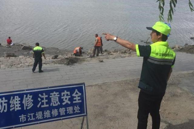 九站公园至景阳广场4257米江堤翻修 不影响游玩