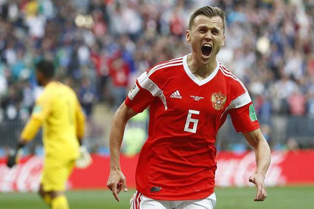 世界杯揭幕战-两替补进3球+世界波 俄罗斯5-0沙特