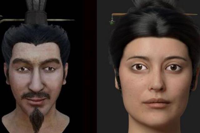 秦始皇一嫔妃与皇子面部复原图公开 前者尸体肢解