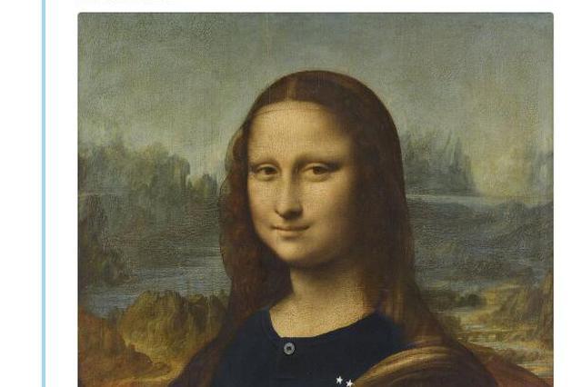 """卢浮宫给蒙娜丽莎""""穿上法国队球衣""""庆祝夺冠"""