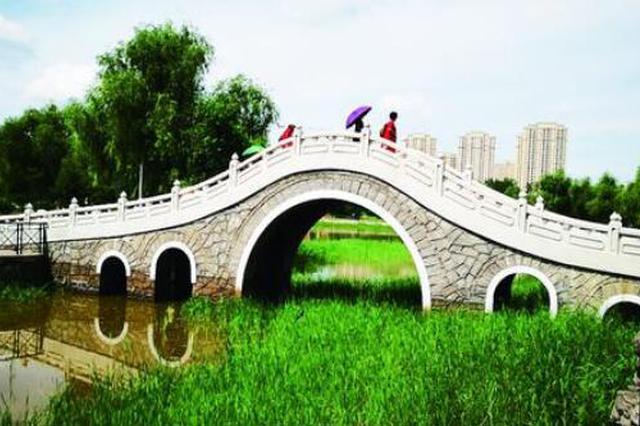 哈尔滨江北这处开放公园美醉了 健身设施一应俱全