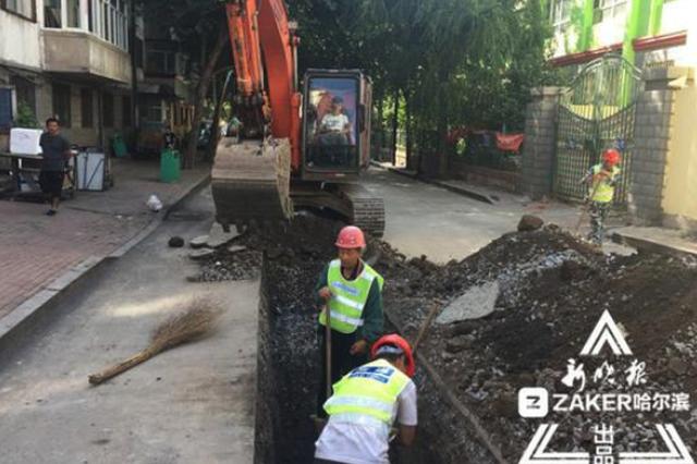 巨兴街富锦街老旧供水管网改造 7851户不耽误用水