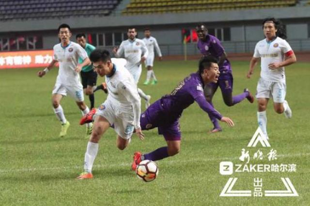 黑龙江FC主场1:1战平浙江毅腾 FC成中甲平局大师