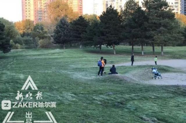 湘江公园草坪弹性管控:撒欢拍照可以 高跟鞋推车禁上