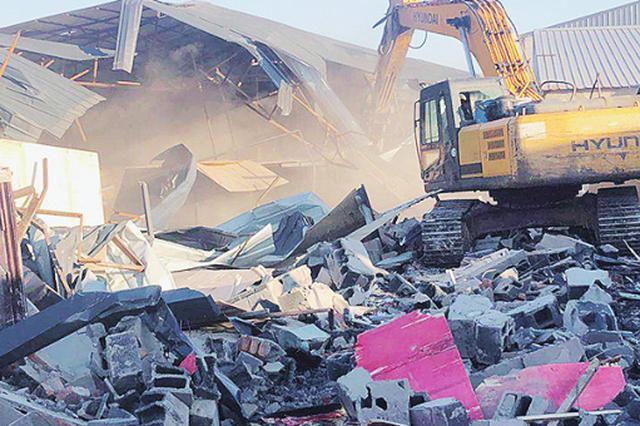 为套取国家征地补贴 哈市新镇村私建连片被依法拆除
